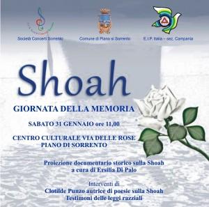 Memoria della Shoah a Piano di Sorrento - 2015