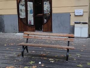 Via Scarlatti l'ultima panchina scomparsa prima
